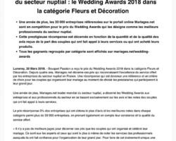 Aude de BOISHERBERT - Bouquet Passion - LUNERAY - WEDDING AWARDS 2018